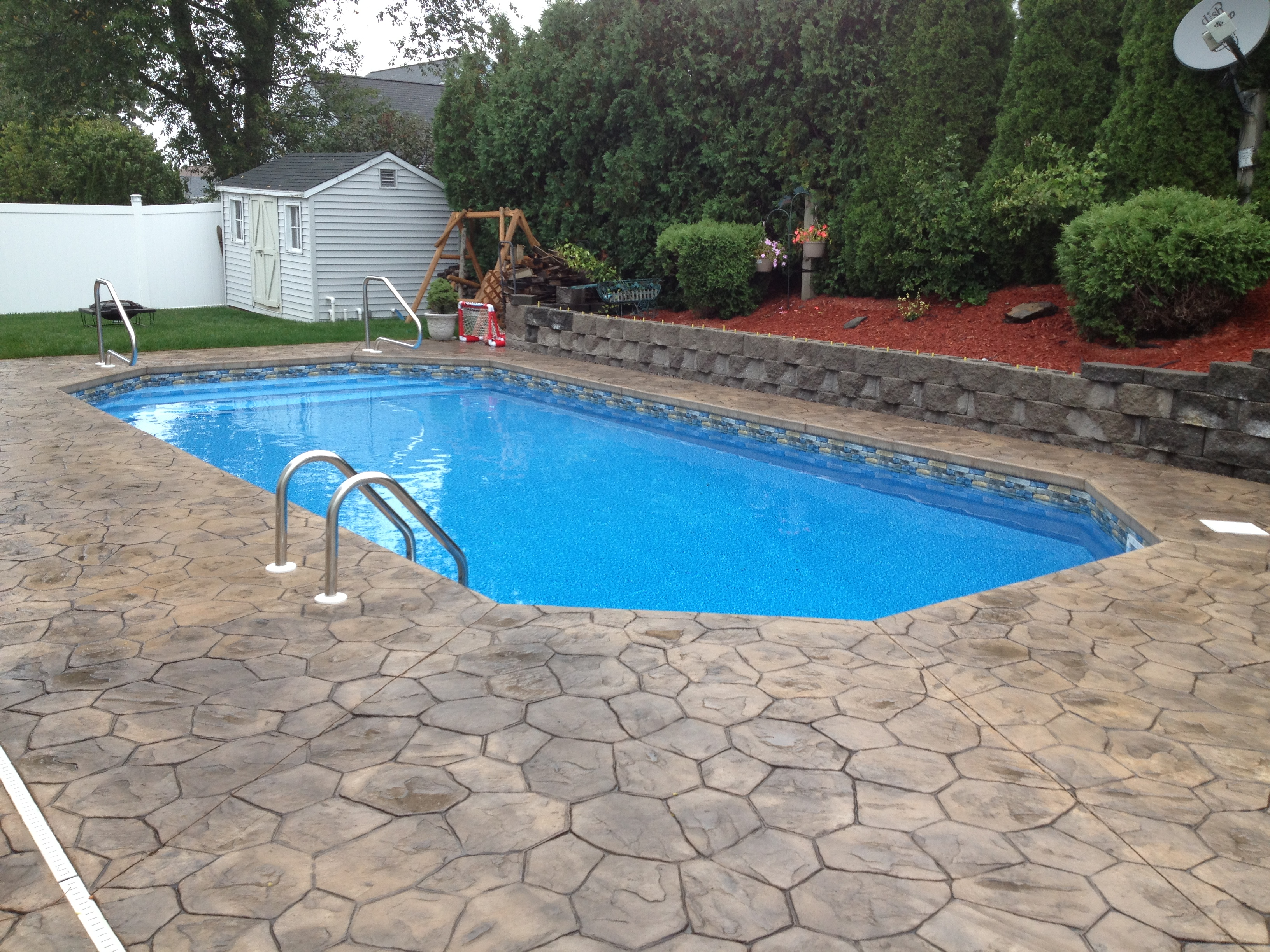 Retaining walls for Pool design retaining wall