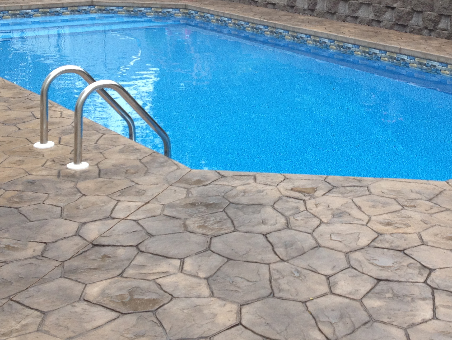 Stamped Concrete Around Pool Fascinating Pool Decking «
